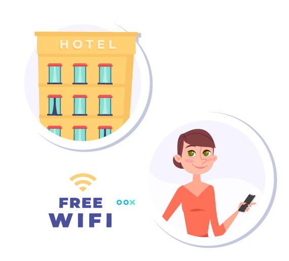 Sencilla integración con el WiFi del hotel